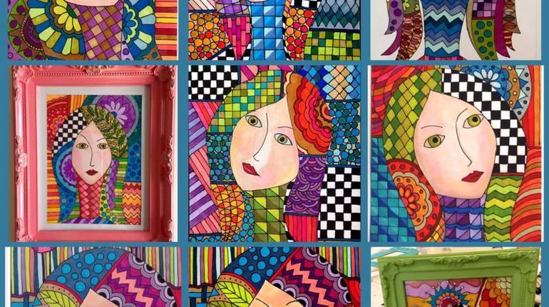 סדנת ציור פנים בצבע