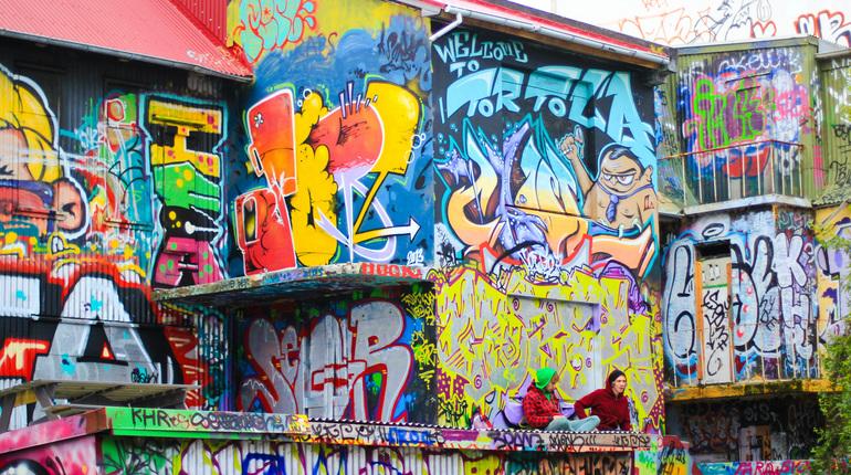 סיור גרפיטי לילדים בקומה השביעית (במתחם מקורה)