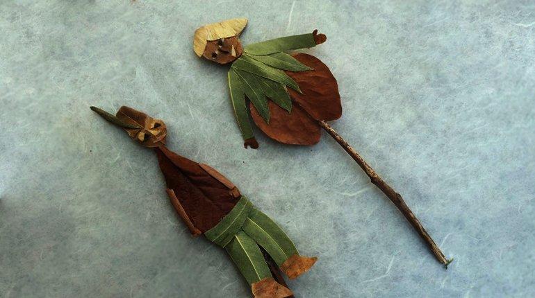 פיקניק יצירת בובות תיאטרון בטבע