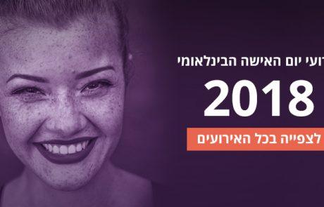 אירועי יום האישה הבינלאומי – 2018